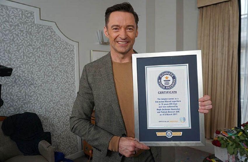 Hugh Jackman y Patrick Stewart establecieron un nuevo récord Guiness