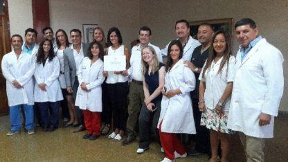 El equipo de cirugía cardiovascular infantil del hospital Humberto Notti.