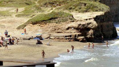 Vista de la Playa Escondida, entre Mar del Plata y Miramar.