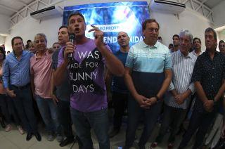 Después del encuentro, Bermejo partió a San Juan a la reunión del peronismo nacional.