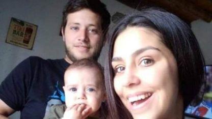 Martín, Tiziano y Paula, víctimas del hecho.