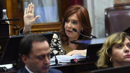 Cristina en el Senado.