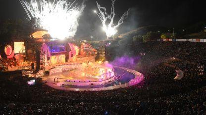Uno de los momentos más luminosos de la fiesta que hizo vibrar anoche a 25 mil espectadores.