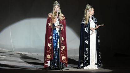 Las flamantes reinas de la Vendimia 2019 dieron inicio a la primera noche de repetición.