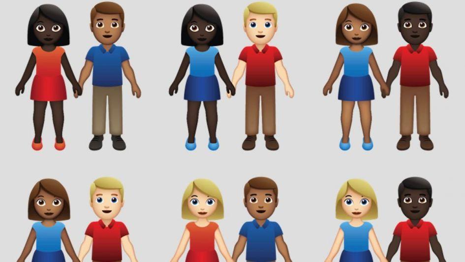 Las parejas interraciales llegan a los emojis para visibilizar mayor diversidad