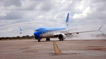 Uno de los Boeing 737 MAX 8 de Aerolíneas Argentinas