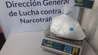 La cocaína secuestrada.