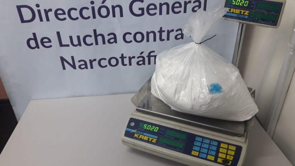 Secuestraron más de 5 kilos de cocaína por un valor de $2 millones en Guaymallén