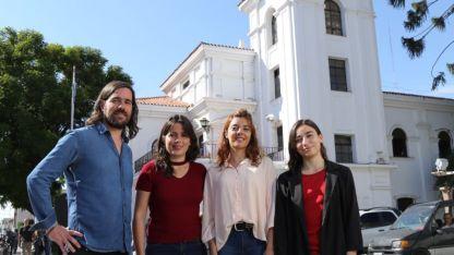 Del Caño, Barbeito y las candidatas en San Martín a intendente y concejal, Chacón y Lombino.