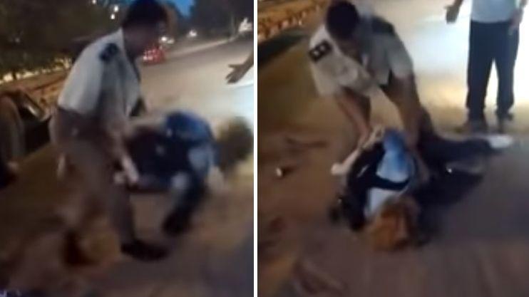 Brutal ataque de un comisario a una mujer por una supuesta infracción de tránsito