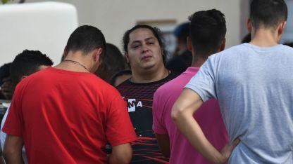 Leandro en su casa, minutos después de la tragedia.