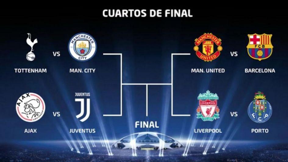 Así serán los cruces de los cuartos de final de la Champions League