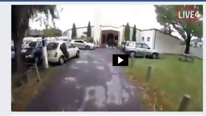 Una captura de imagen del video que el asesino transmitió en vivo por Facebook.