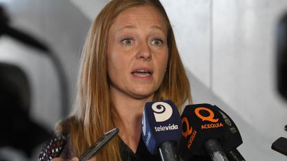 """Ministra. """"La recaudación viene mal, es una realidad a nivel nacional y provincial"""", dijo Paula Allasino."""