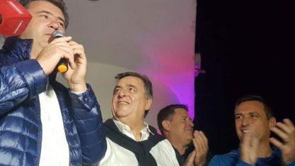 Mestre y Negri acompañaron al ganador de la elecciones para Intendente de La Falda, Javier Dieminger.