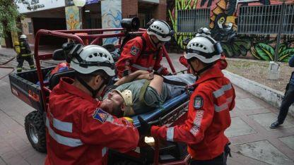 Durante el martes se realizaron simulacros de sismo en las escuelas.