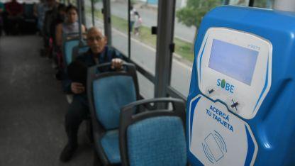 El nuevo sistema de pago del transporte público empezará a funcionar cuando todas las unidades tengan instalado el equipamiento completo.