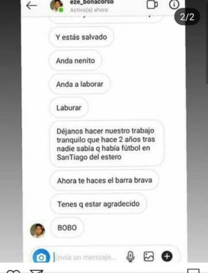 Un ex Godoy Cruz fue despedido de su club por pelearse con un hincha por redes sociales