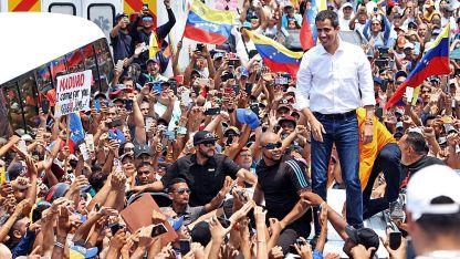 El líder opositor Juan Guaidó estuvo ayer en Anzoátegui.