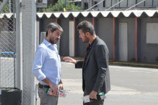 Tinelli hablando con Matías Lammens
