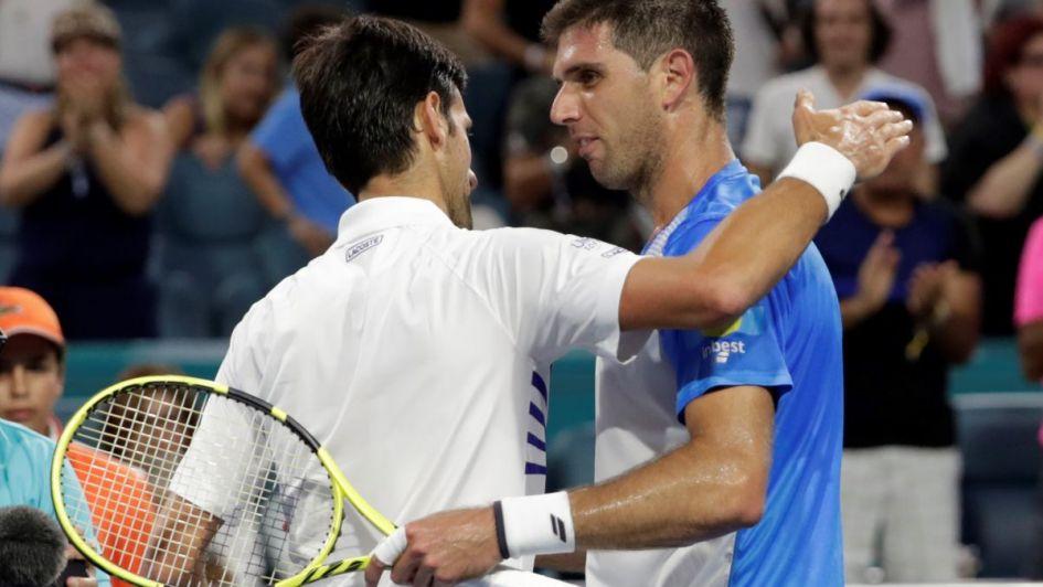 Delbonis se la hizo difícil a Djokovic, quien pasó a cuarta ronda del torneo de Miami