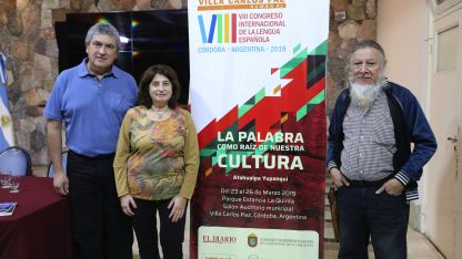 Artistas. Roberto Mercado, Eliana Abdala y Pedro Zalazar expusieron ayer en Villa Carlos Paz.