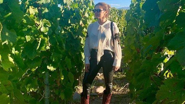 Entre los viñedos mendocinos, Silvina Luna recordó su video prohibido