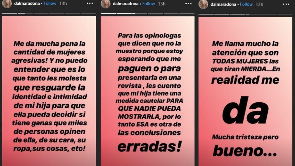 Diego Maradona será abuelo por cuarta vez