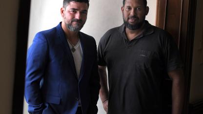 Activistas. El chef Javier Sosa y el líder de la Asociación Venezolana de Cuyo, Ciro Aporta.