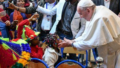 Al igual que su antecesor Juan Pablo II, Francisco tuvo una cálida recepción en Marruecos.