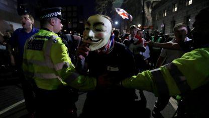Protestas ocurrieron el viernes en Londres.