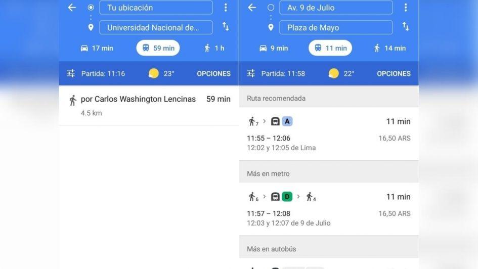 ¿No podés ver los recorridos del Mendotran? Hay problemas con Google Maps