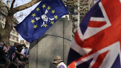 En las calles. Militantes a favor y en contra del Brexit se han manifestado a lo largo de la semana en las calles de Londres.