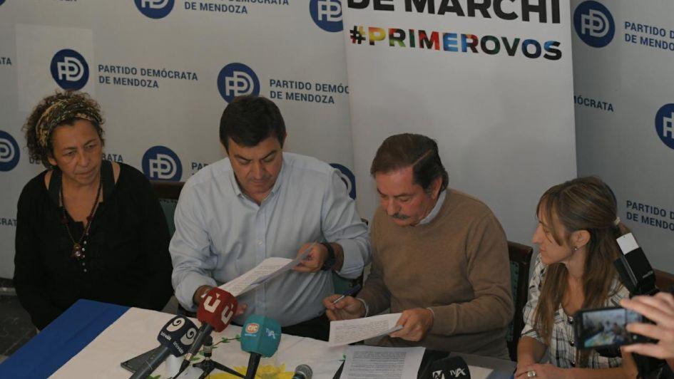 El PD apoyará a De Marchi dentro de Cambia Mendoza:
