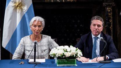 Christine Lagarde y Nicolás Dujovne