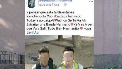 Nahuel Vitali fue ulitmado de una puñalada en la calle Tiburcio Benegas y Uruguay.