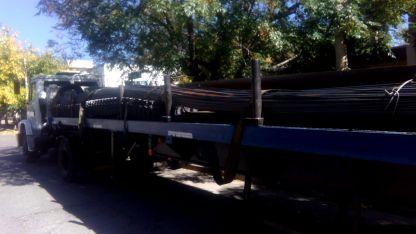 El camión recuperado en Godoy Cruz.