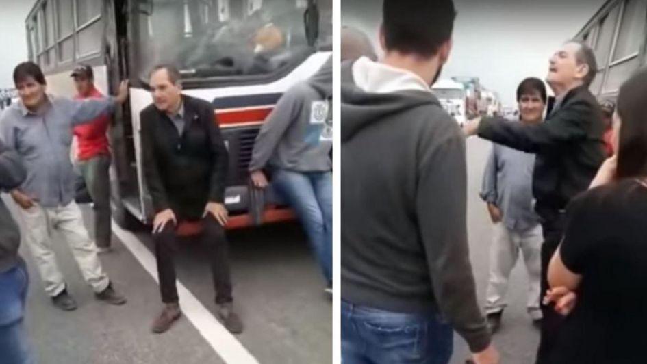 El candidato K de Tucumán apoyó un piquete y se peleó a los gritos con un conductor