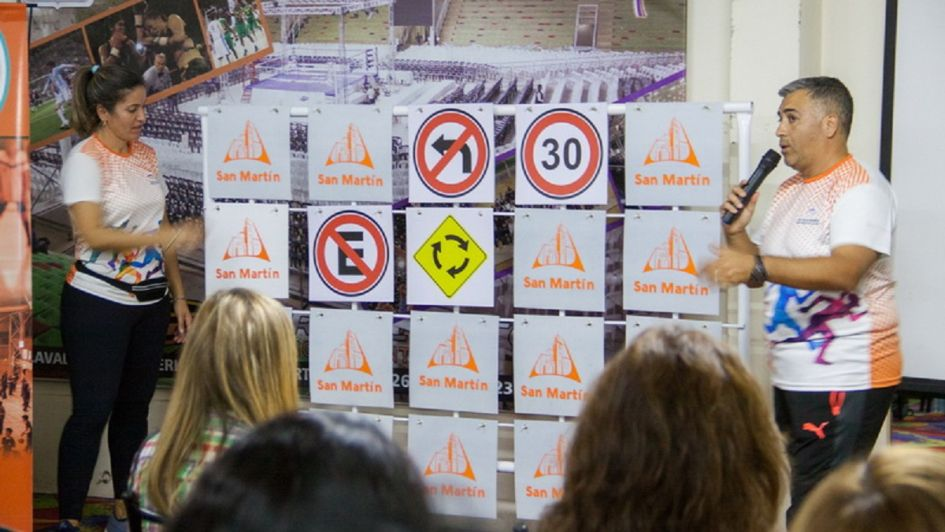 Giménez inauguró la pista vial municipal en San Martín