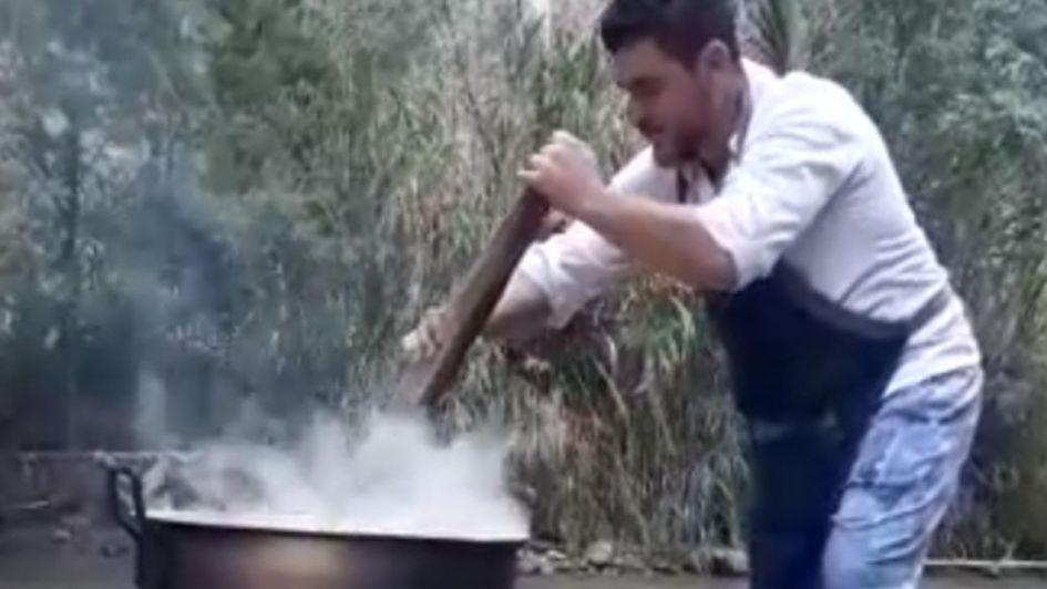 Un chef mendocino dejó todo para ayudar a los venezolanos refugiados