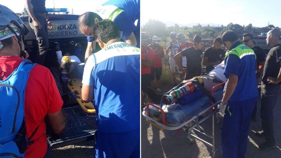 Dramático rescate de un ciclista que se accidentó en el dique Frías