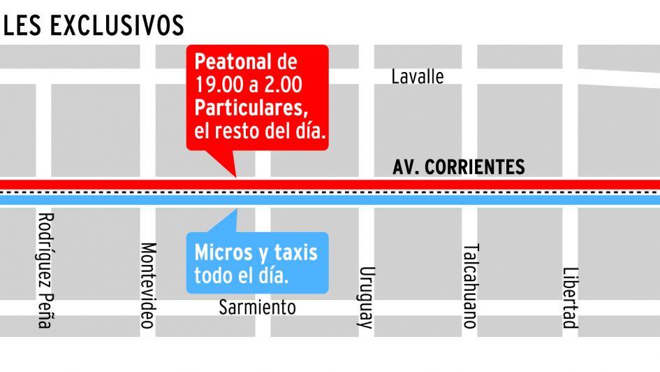 Buenos Aires: la avenida Corrientes con nueva cara y peatonal de noche