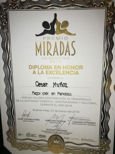 Una revista peruana premió a un chef mendocino