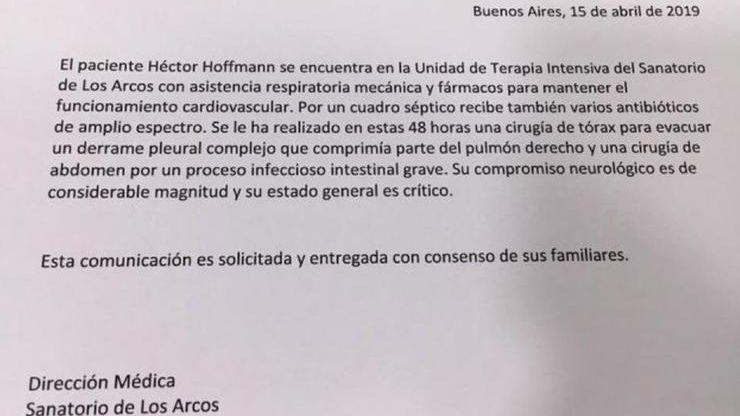 Sergio Denis fue operado dos veces y se encuentra en estado crítico