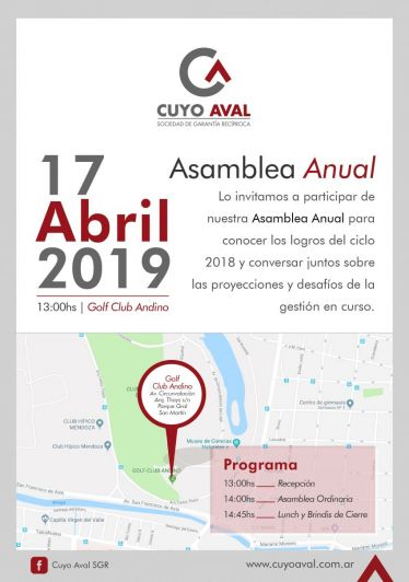 Cuyo Aval celebra su 15° Asamblea Anual: