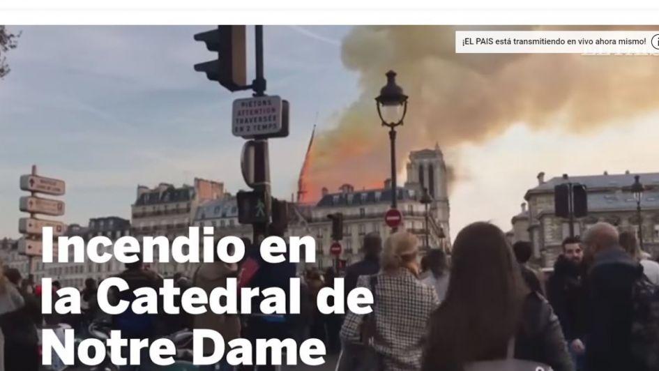 YouTube asocia por error a Notre Dame en llamas al atentado del 11 de S en Nueva York