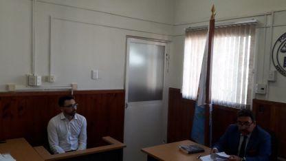 Marianetti, el viernes en los tribunales de Tunuyán.