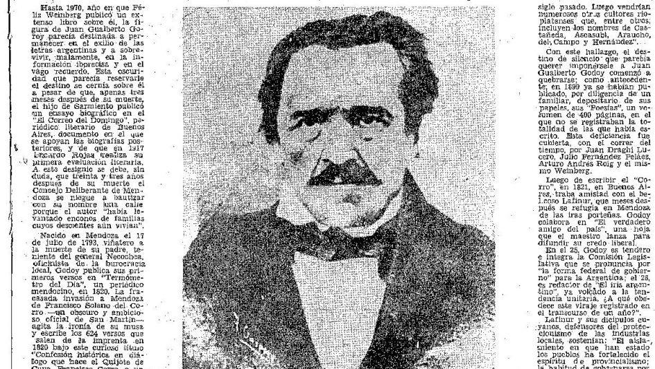 Juan Gualberto Godoy: el primer poeta mendocino
