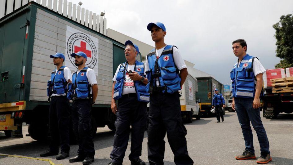 La Cruz Roja hace ingresar  ayuda humanitaria