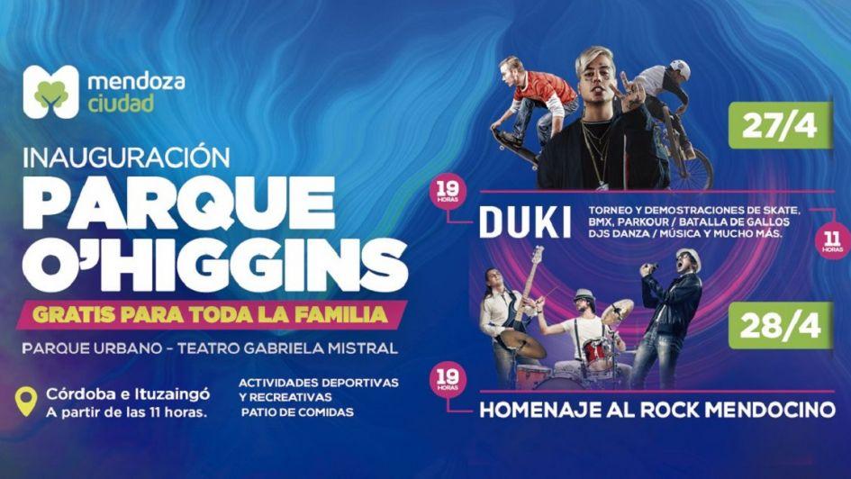 Duki brindará un show gratuito en Mendoza por la reinauguración del parque O'Higgins